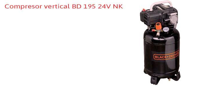 Compresor vertical Black and Decker BD 195/24V NK