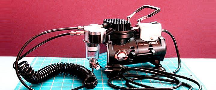 Compresores para aerografía y para pintar con aerógrafo