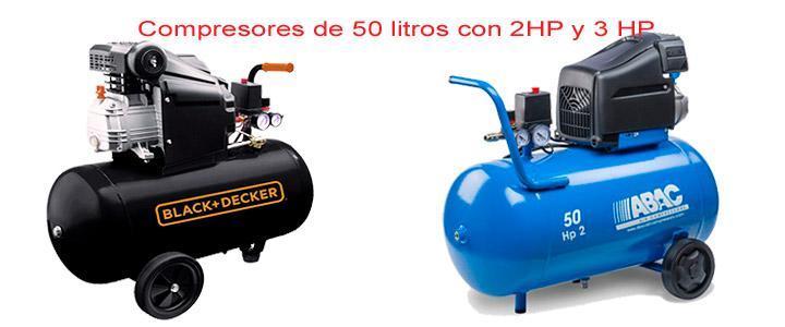 Compresores de aire de 50 litros